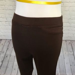 HUE Pants - HUE Brown Legging Pants